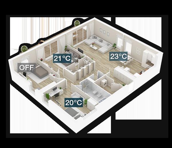 Airzone air conditioning temperature control