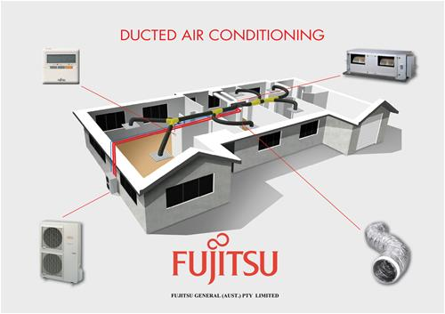 Fujitsu ducted air conditioning systems