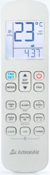 ActronAir Serene air conditioner remote control