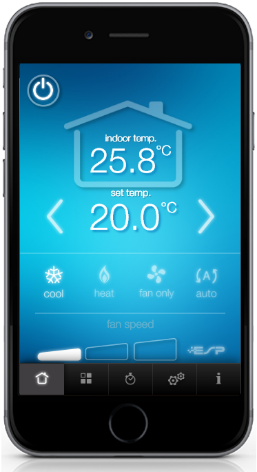 ActronAir Serene air conditioner mobile app